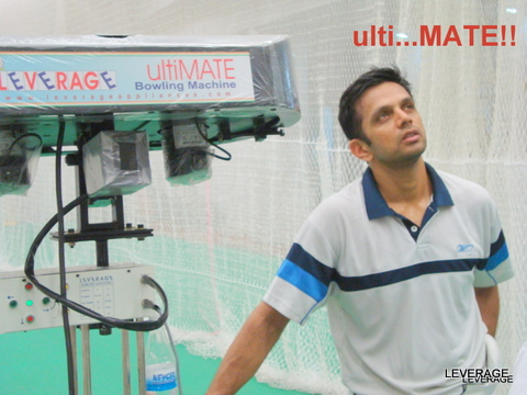 Rahul dravid hand in hand with Leverage Bowling Machine