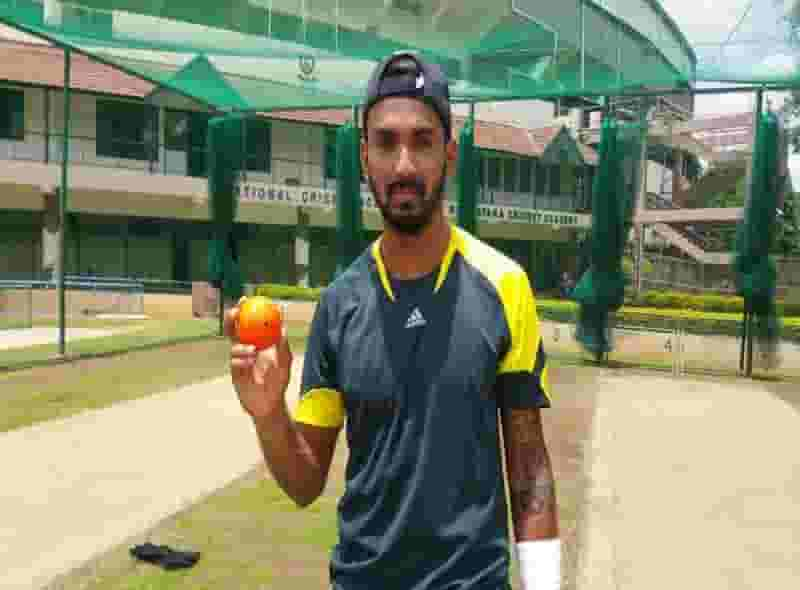 K L Rahul using Leverage Spingball for intense batting practice